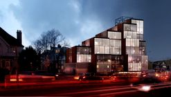 OMA-Alumni NEUBAU Greenlighted for Pixelated Mixed-Use Complex in London