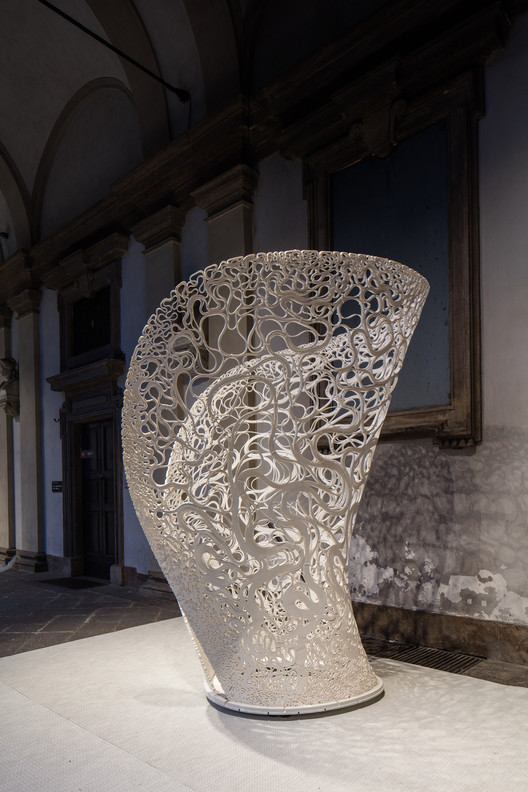 Zaha Hadid Architects Unveils New Experimental Structure Using 3D-Printing Technology