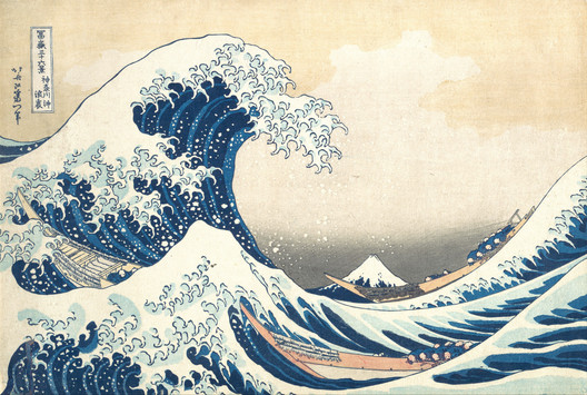 "Hokusai's ""The Great Wave off Kanagawa"" (1830). Image via Wikimedia Commons (Public Domain)"