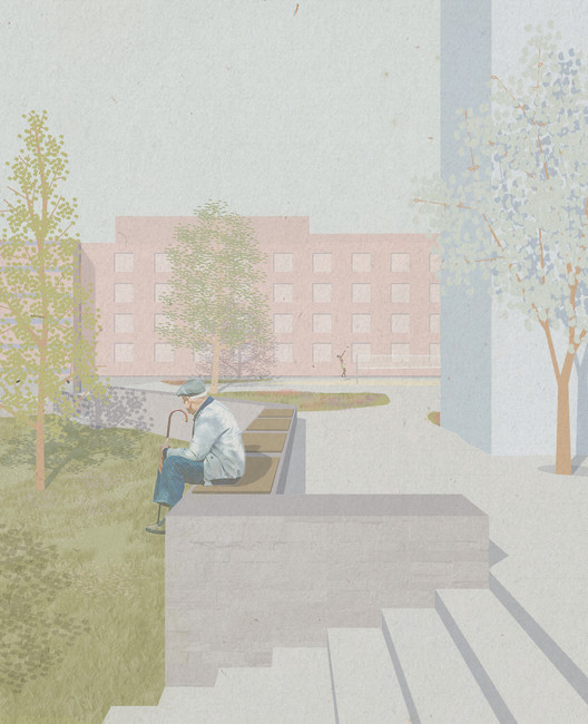 Promenade. Image Courtesy of KOHT Arkitekter