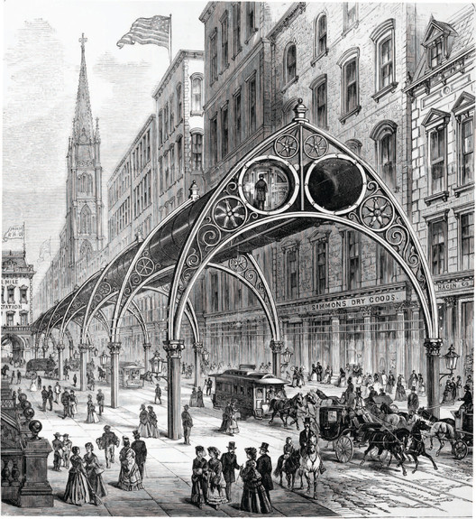 Rufus Gilbert Gilbert's Pneumatic Railway. Image Courtesy of Metropolis Books