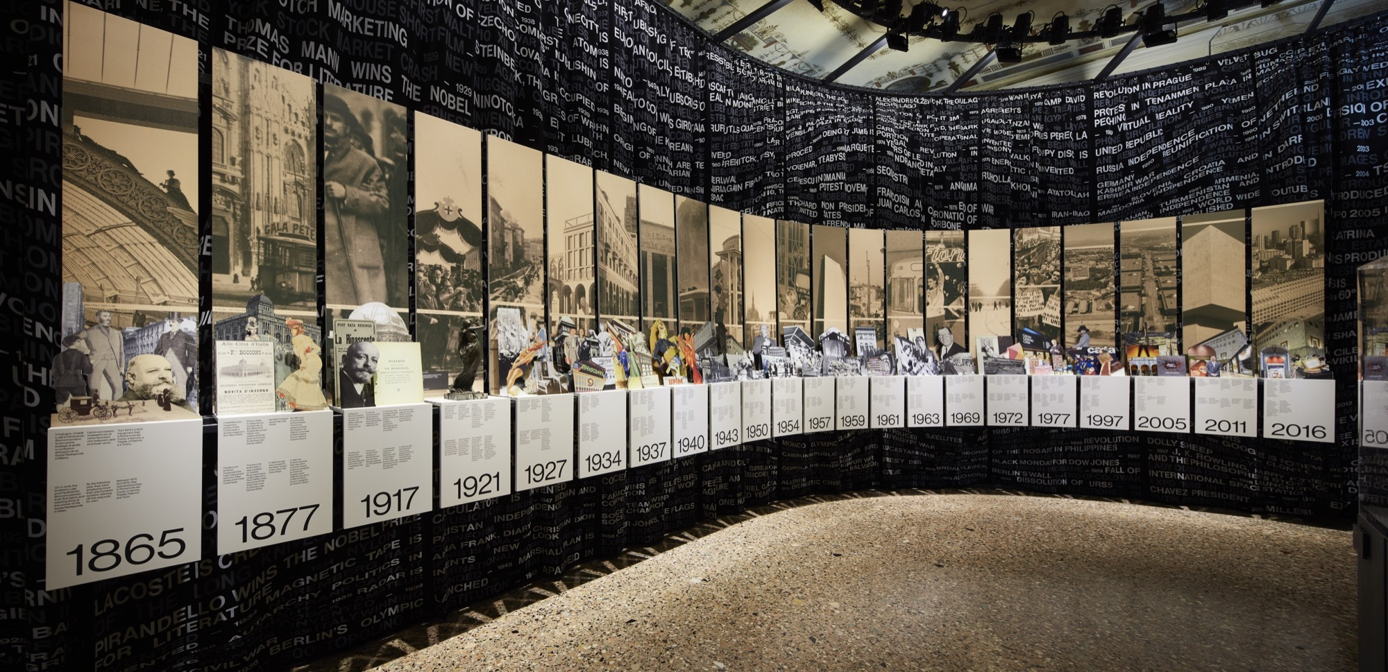 Exhibition Stand Design Competition : Oma amo designed exhibition lr rinascente stories of