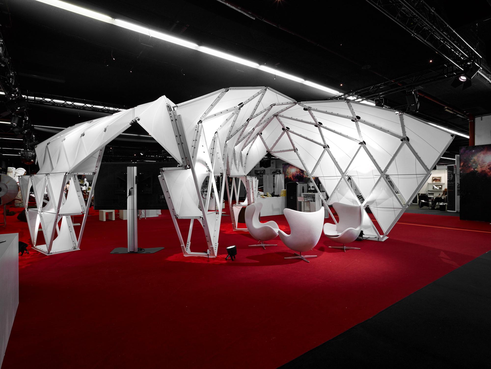 Unstudio designs teflon pavilion to test concepts for for Pavilion concept architecture