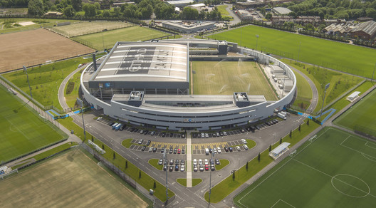 City Football Academy, Manchester by Rafael Vinoly Architects. Image ©Will Pryce