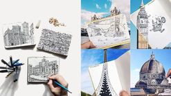 Gifted Sketcher Uses His Moleskine and Camera to Capture Real and Imagined Cityscapes