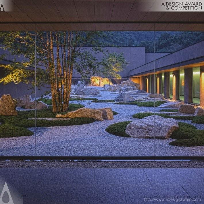 Yukyu En by Shunmyo Masuno- Platinum A' Landscape Planning and Garden Design Award in 2017. Image Courtesy of A' Design Award & Competition