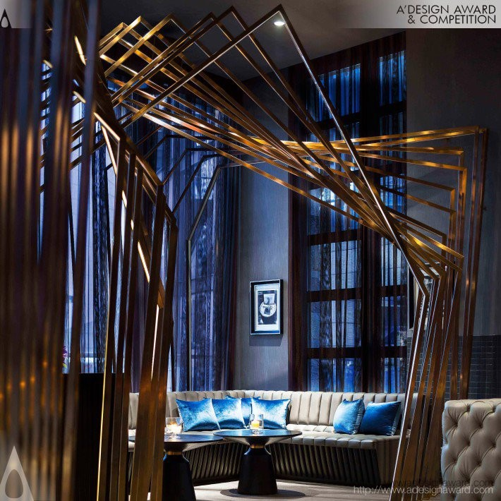Copper Whiskey Bar & Lounge by PTang Studio Limited- Golden A' Interior Space, Retail and Exhibition Design Award in 2017. Image Courtesy of A' Design Award & Competition