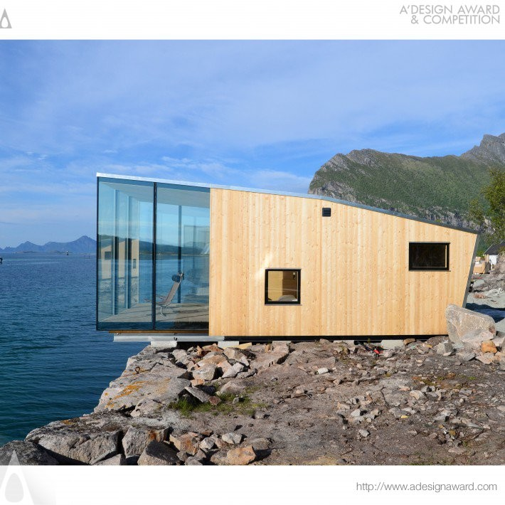 Manshausen Island Resort by Snorre Stinessen- Platinum A' Architecture, Building and Structure Design Award in 2017. Image Courtesy of A' Design Award & Competition