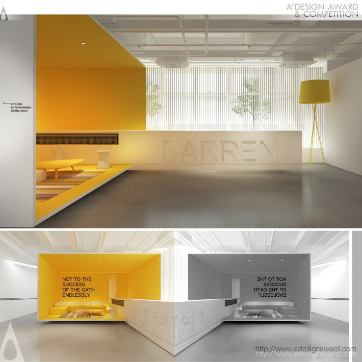 Simple Intelligent Space by Jingyi Cai- Golden A' Interior Space, Retail and Exhibition Design Award in 2017. Image Courtesy of A' Design Award & Competition