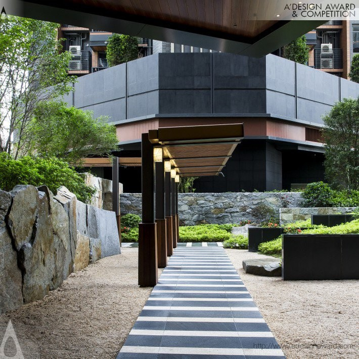 The Pavilia Hill by Shunmyo Masuno- Platinum A' Landscape Planning and Garden Design Award in 2017. Image Courtesy of A' Design Award & Competition