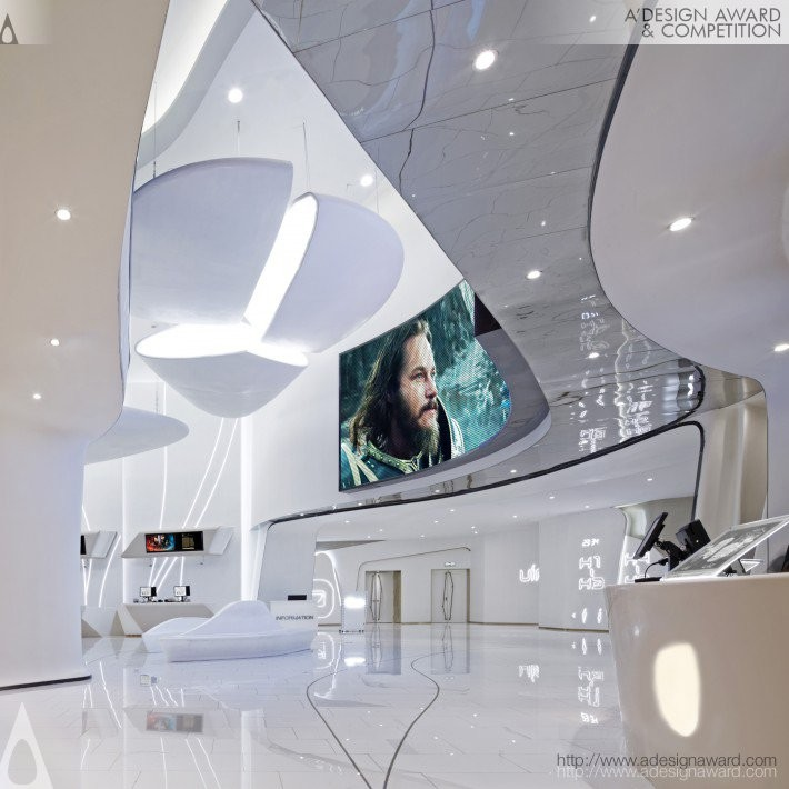 White Futura by Alexander Wong Architects- Platinum A' Interior Space, Retail and Exhibition Design Award in 2017. Image Courtesy of A' Design Award & Competition