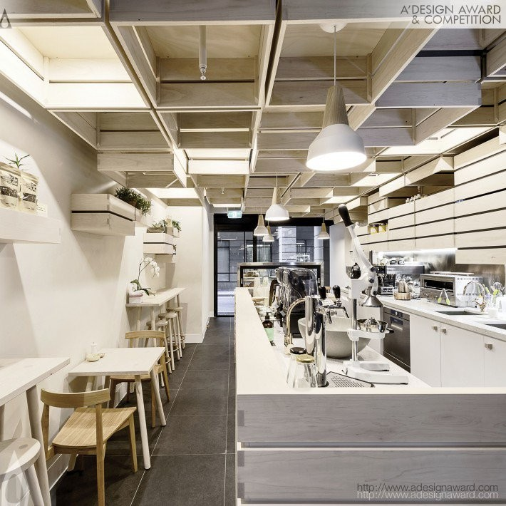 Hunters Roots by Kei Kitayama- Golden A' Interior Space, Retail and Exhibition Design Award in 2017. Image Courtesy of A' Design Award & Competition