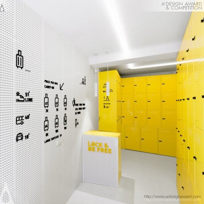 Lock and Be Free by Wanna One- Platinum A' Interior Space, Retail and Exhibition Design Award in 2017. Image Courtesy of A' Design Award & Competition