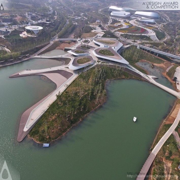 Heavenly Water by Zhenfei Wang- Platinum A' Architecture, Building and Structure Design Award in 2017. Image Courtesy of A' Design Award & Competition
