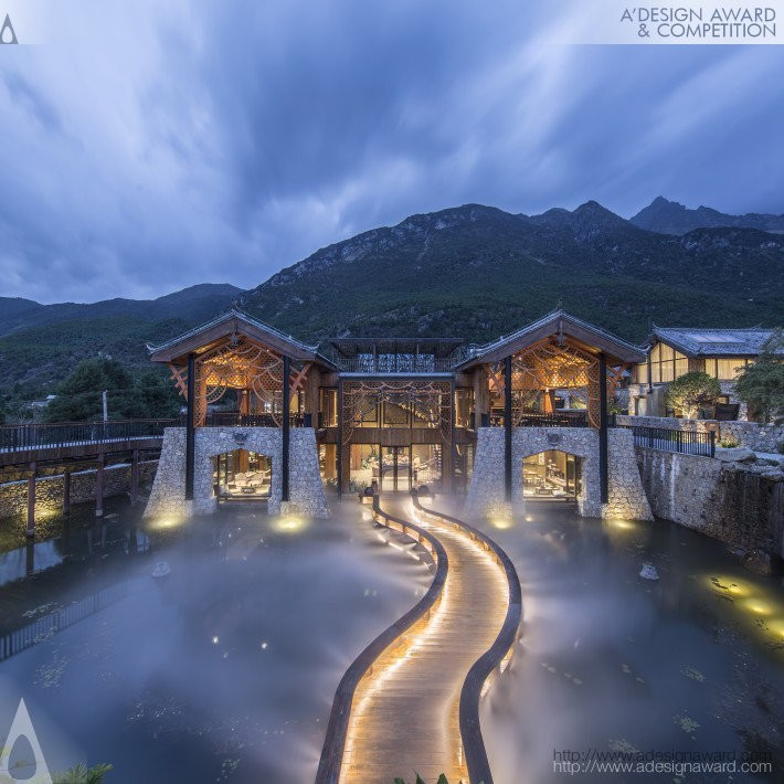 Villafound Jade Hotel Lijiang by Villafound Luxury Culture Retreats- Platinum A' Architecture, Building and Structure Design Award in 2017. Image Courtesy of A' Design Award & Competition