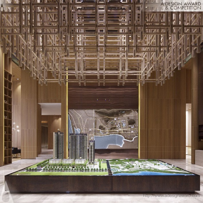 Yaokai Anluan Court & Exhibition Center by Zhou Jing- Platinum A' Interior Space, Retail and Exhibition Design Award in 2017. Image Courtesy of A' Design Award & Competition