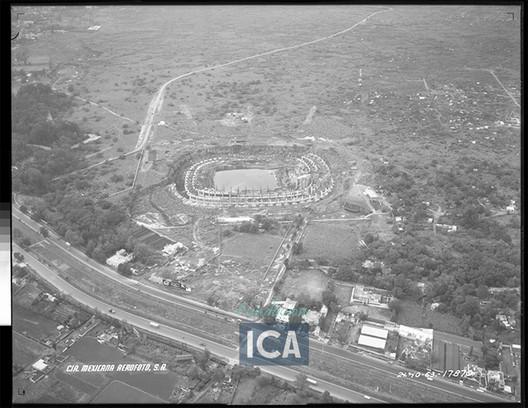 Cortesía de Acervo Histórico Fundación ICA, Fondo Aerofotográfico Oblicuas, 1963.