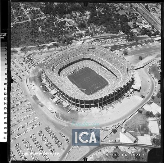 Cortesía de Acervo Histórico Fundación ICA, Fondo Aerofotográfico Oblicuas, 1966.
