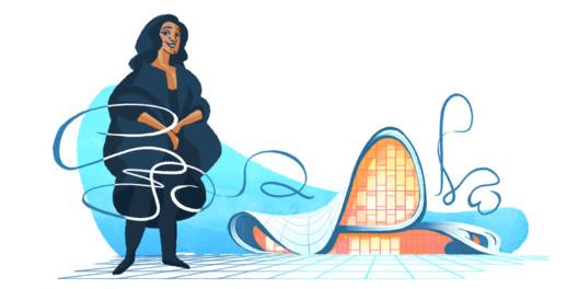 Zaha Hadid Celebrated in Latest Google Doodle