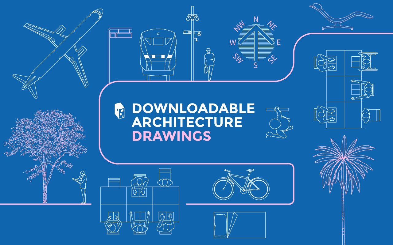 a library of downloadable architecture drawings in dwg