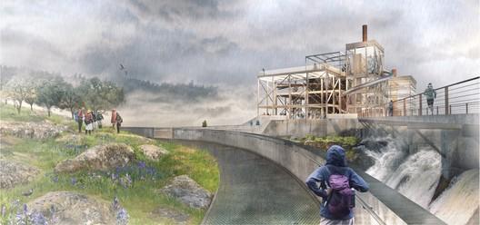 The Clarifier Landscape and PGE Dam Promenade. Image © Snøhetta