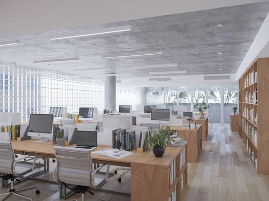 Interior Office. Image Courtesy of VTN Architects