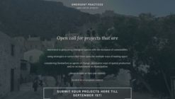 Open Call for Emergent Practices of Social Architecture