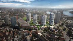 """Construção do """"Sky Park"""" de Zaha Hadid Architects é iniciada em Bratislava"""
