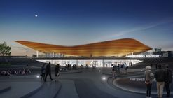 Helsinki Airport to Be Transformed with Undulating Roof and Public Landscape