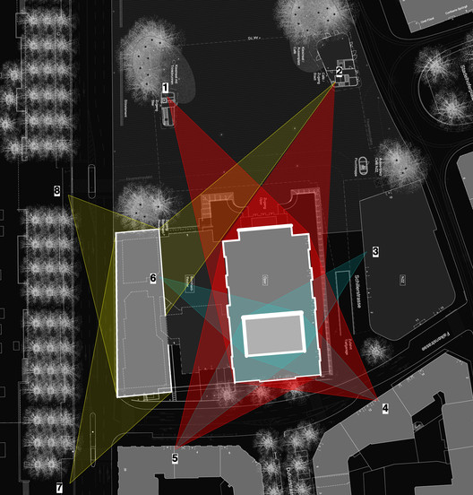 Position of projectors for Zurich Opera House. Image © Opticalight