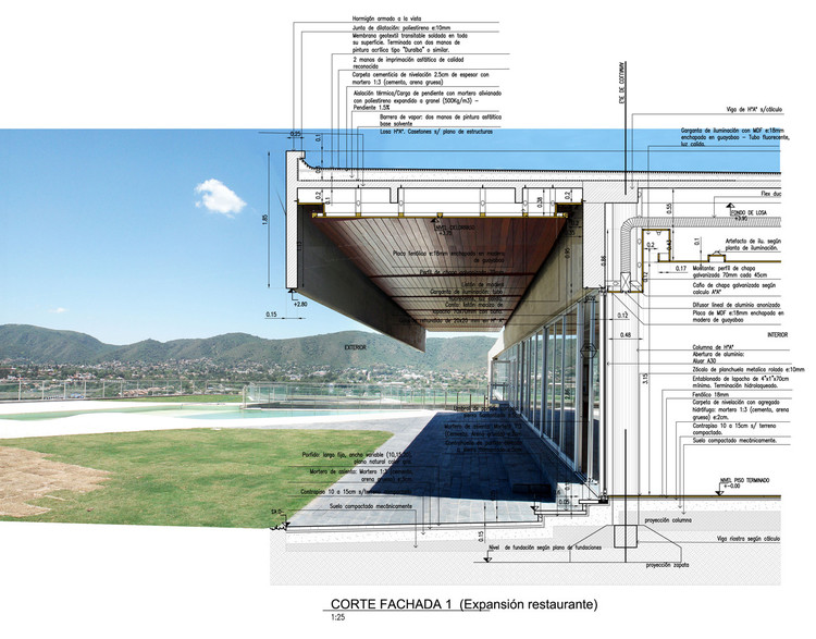 10 Exemplary Ways to Represent Architectonic Construction Details, Project: Altos de San Antonio Club House / Dutari Viale Arquitectos. Image via © Dutari Viale Arquitectos