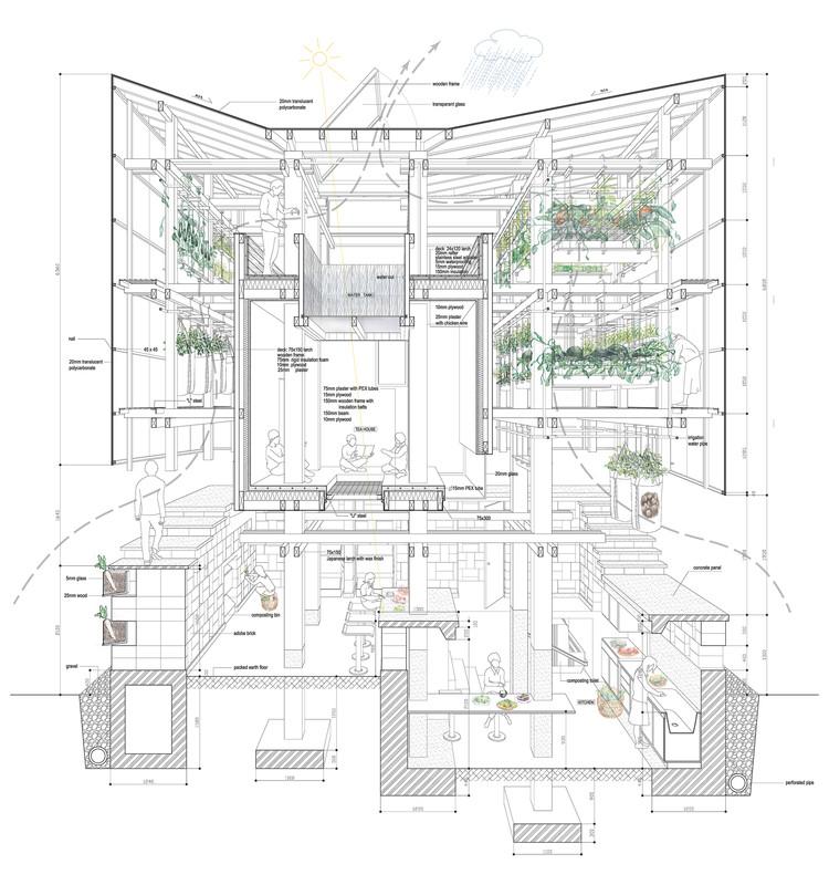 vía © College of Environmental Design UC Berkeley + Kengo Kuma & Associates