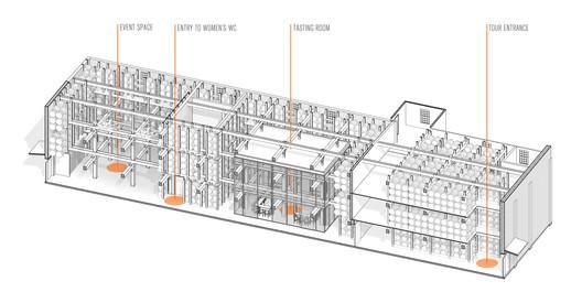 Corridor Sectional Axonometric