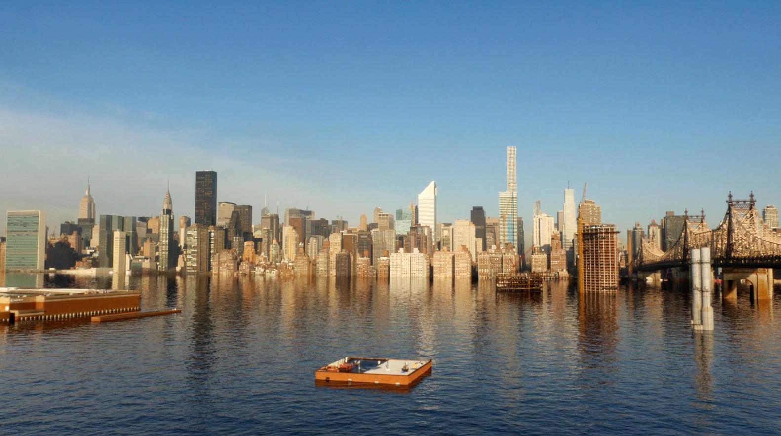 Nova Iorque submersa: vídeo mostra as consequências de um aumento de 2°C na temperatura global,Cortesia de Menilmonde via screenshot do vídeo