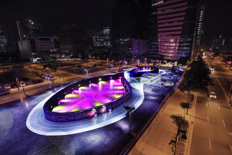 Nike Designs Shoe-Shaped LED Track in Manila, Courtesy of NIKE/BBH
