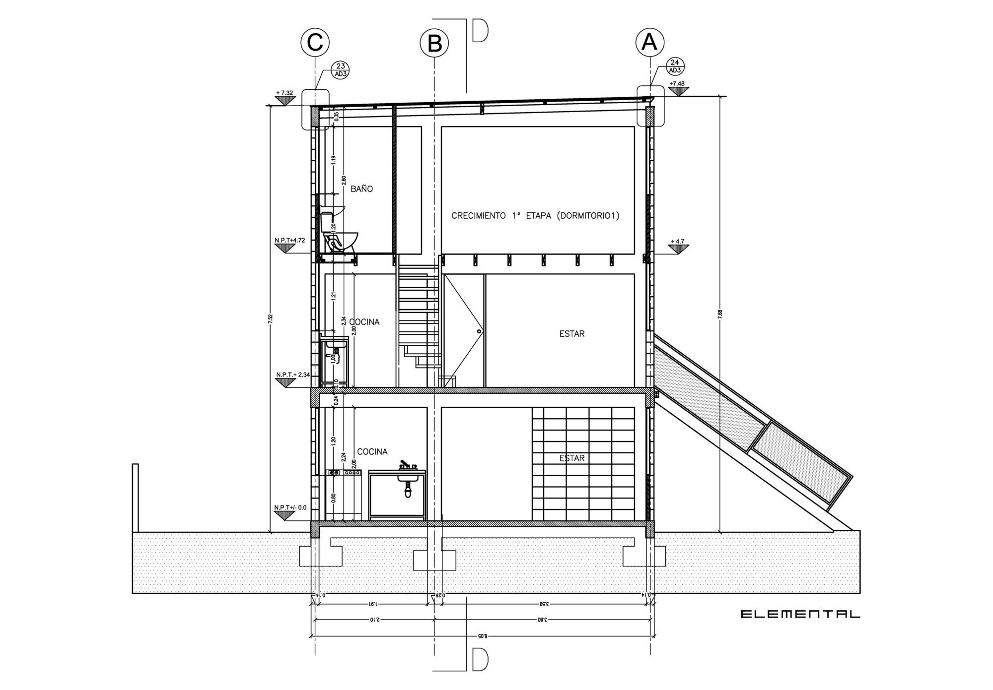 Detalles constructivos de la vivienda incremental de - Vano arquitectura ...