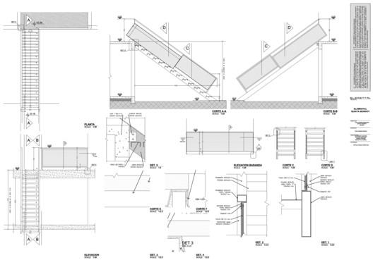 Quinta Monroy, Metal Staircase © ELEMENTAL