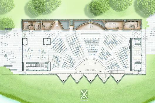 First Floor plan + Implantation