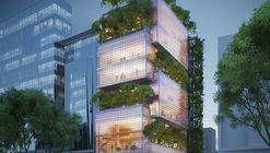 VTN Architects projeta edifício em forma de blocos de vidro empilhados