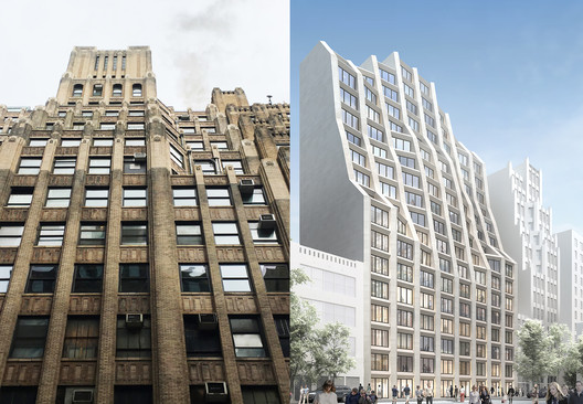 214 West 29th Street, before and after. Image Courtesy of Hollwich Kushner