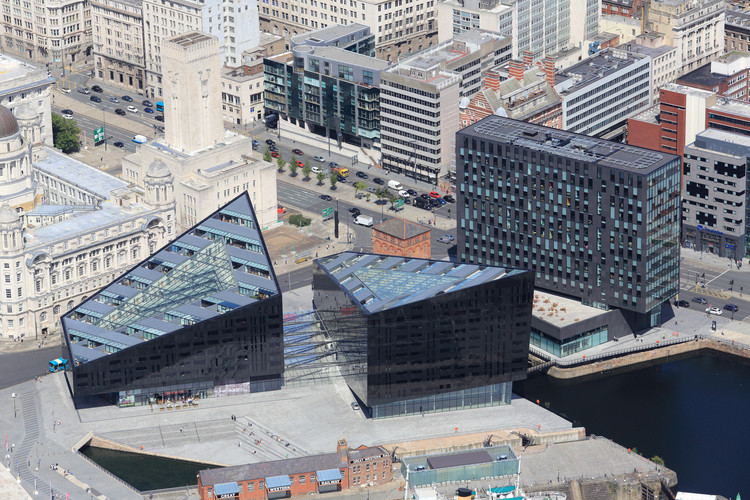 Courtesy of RIBA. Mann Island, Liverpool. Image © webbaviation.co.uk
