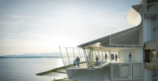 Cross-Section of the Tophouse to show Observation Deck Renovations. Image © Olson Kundig