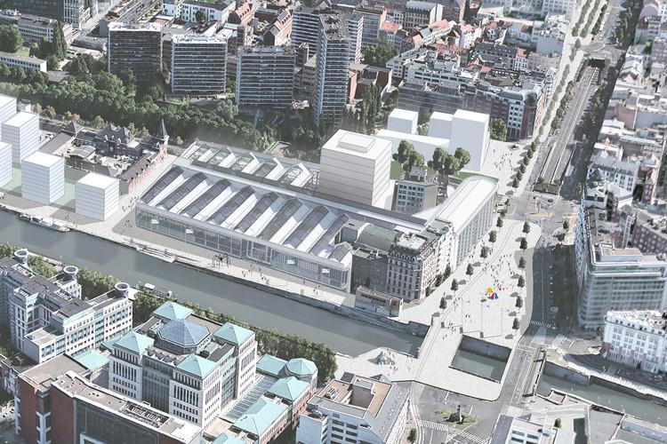 Estudio programático y urbano para el edificio Citröen del equipo belga MSA / Wessel De Jonge. Image Cortesía de Premio AADIPA