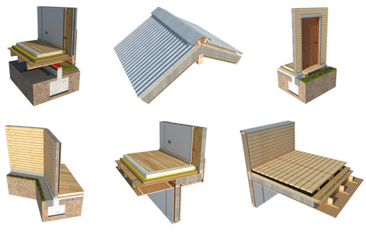 From Foundations to Roofs: 10 Detailed Wood Construction Solutions in 3D and 2D