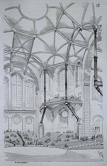 """Viollet Le Duc, a 19th-century architect well-known for his innovations in architectural structures, believed that """"the interests of [both the architecture and structural engineering] professions will be best saved by their union"""". Image <a href='https://commons.wikimedia.org/wiki/File:Viollet-le-DucConcertHallEntretiens.jpg'>via Wikimedia</a> (public domain)"""