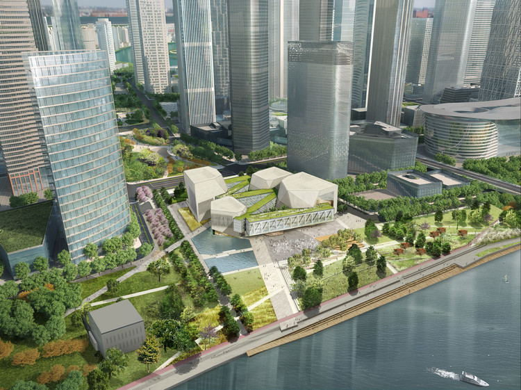 Aerial view of the site. Image Courtesy of Diller Scofidio + Renfro