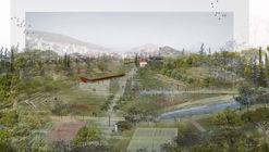 """Revitalização de um antigo cemitério em Atenas cria """"osmose"""" do parque à cidade"""