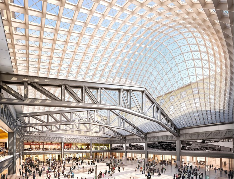 New Renderings of Penn Station's $1.6 Billion Renovation Released as Project Gets Greenlight, © SOM