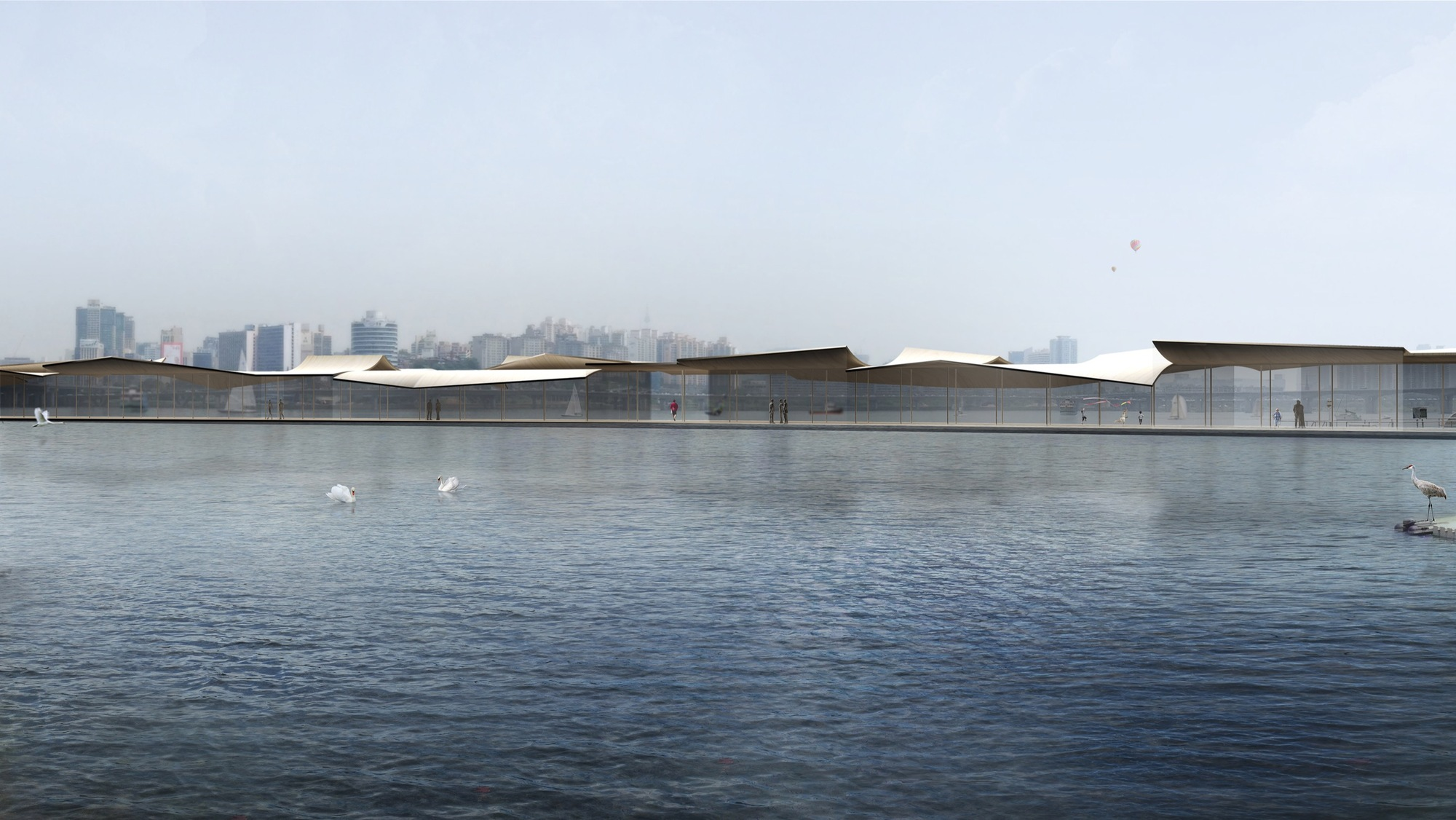 Mirroring the Flatness of a Calm River: Cheongvogl Win Seoul Ferry Terminal Competition