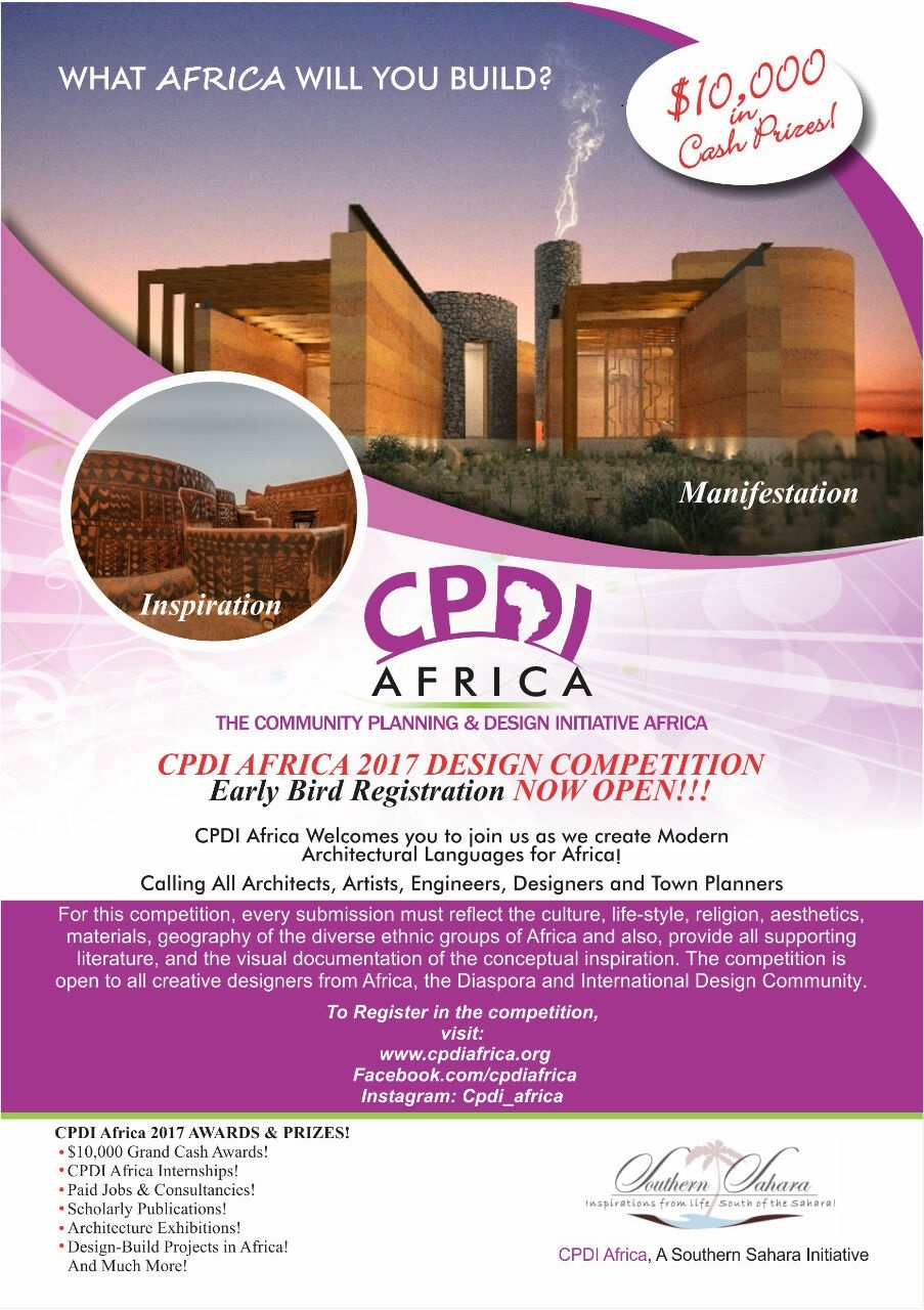 Furniture Design Abdelhamed Zain architecture design competition 2017 call for cpdi africa poster